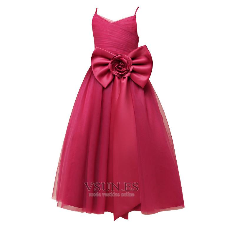 ... Vestido niña ceremonia Sin mangas Lazos tul Natural Elegante Falta -  Página 4 ... 859c5629a29d