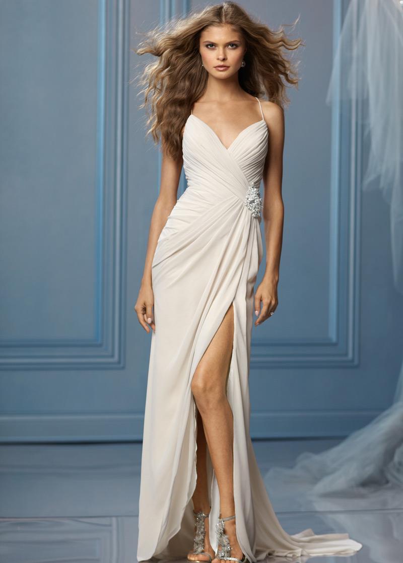 Vestido de novia sencillos espalda descubierta baratos online página 5