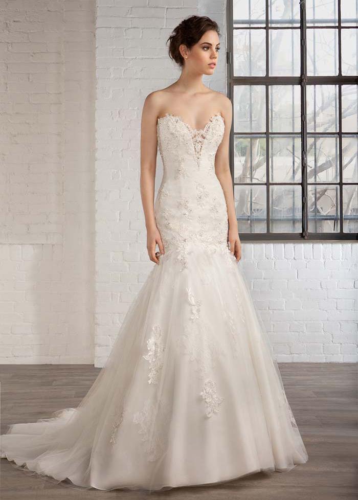 037fdf575 ... Vestido de novia tul Natural Apliques Espalda Descubierta Escote Corazón  - Página 3 ...