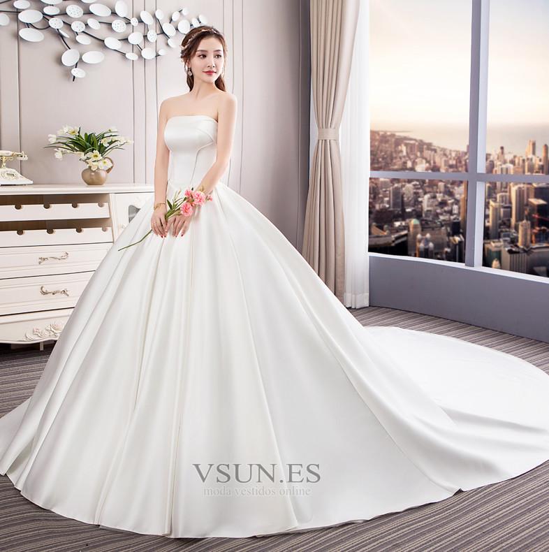 vestido de novia sin tirantes espalda descubierta reloj de arena