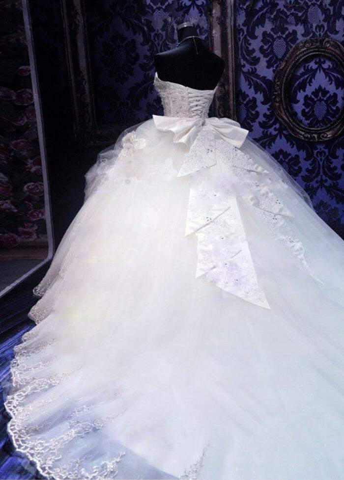 ... Vestido de novia Invierno Escote Corazón Cola Catedral Cordón Cristal -  Página 3 cfa152853c92