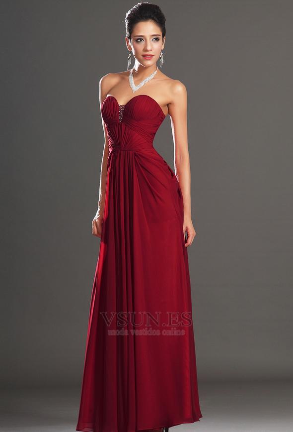Vestido rojo corte corazon
