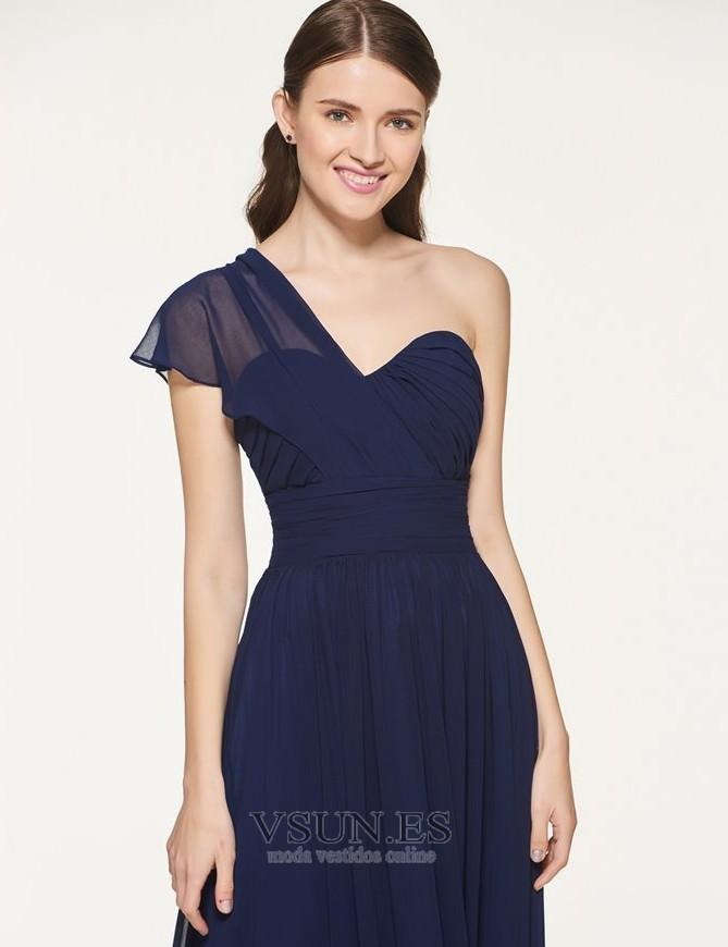 49168668b0 ... 3 Vestido de dama de honor Drapeado Blusa plisada Natural Gasa Sin mangas  Elegante - Página 4 ...