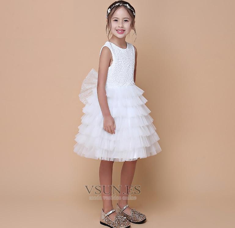 ... Vestido niña ceremonia Natural Falta Hasta la Rodilla Sin mangas Verano  Cremallera - Página 3 ... 6aa0c5b60988