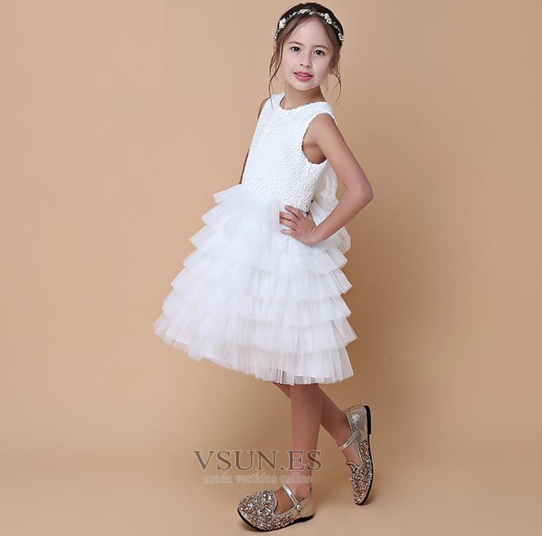 ... Vestido niña ceremonia Natural Falta Hasta la Rodilla Sin mangas Verano  Cremallera - Página 4 4616f90c5f95