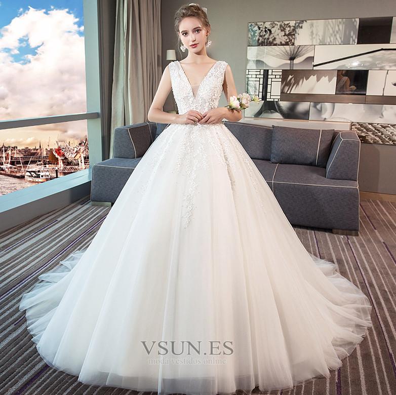 d4321fb55 Vestido de novia Elegante Encaje Encaje Sin mangas Espalda Descubierta -  Página 1 ...