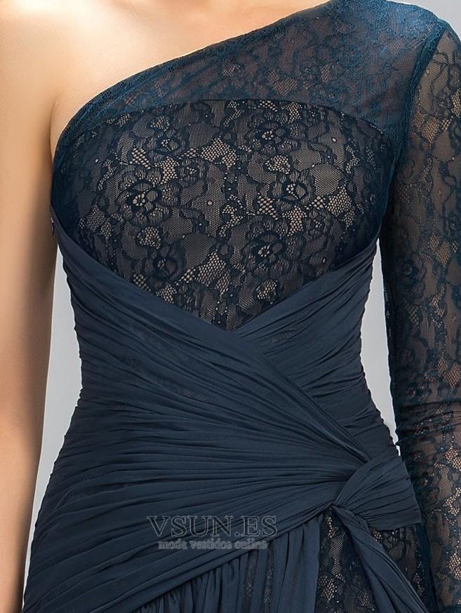 c21128a095c ... Vestido de noche Corte-A Bordado Natural primavera Capa de encaje  Escote Asimètrico - Página
