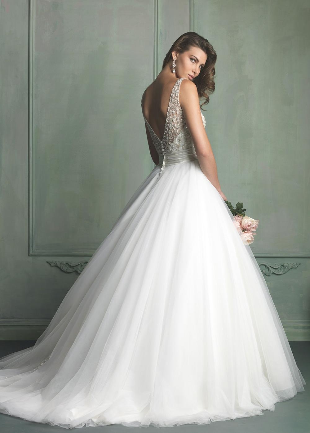 Vestido de novia Corte princesa Sala Satén Clasicos primavera Escote ...