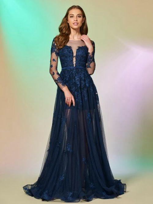 72a927578b Vestido de noche primavera Pura espalda Corte-A Drapeado Baja escote en V -  Página ...