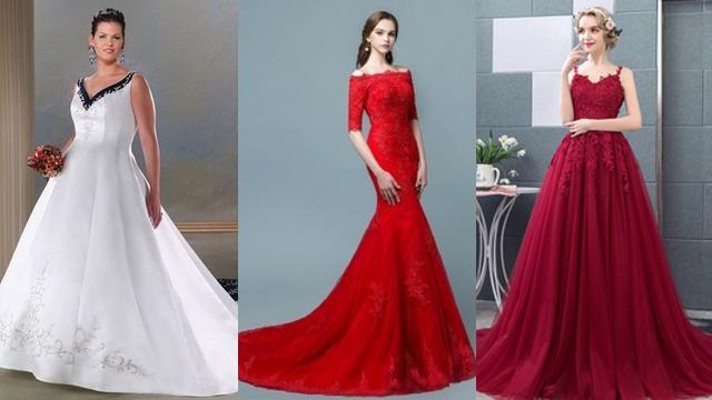 8319145fd Vestidos de novia rojos baratos